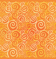 abstract ornamental seamless pattern swirl line vector image vector image