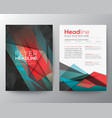Abstract Triangle Geometric Brochure Flyer design vector image vector image