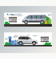 airport transfer traveling by plane in vector image