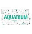 aquarium word concepts banner shell fish coral vector image vector image