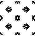 audio speaker pattern seamless black vector image vector image