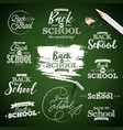 back to school design with typography lettering vector image vector image