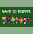 back to school poster kids vector image vector image
