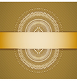 Background with ribbon vector image vector image