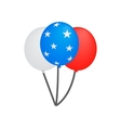 balloons in usa flag colors isometric 3d icon vector image vector image
