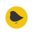 Bird silhouette icon vector image vector image