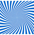 blue and white spiral background - design vector image vector image
