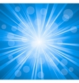 Blue color design with a burst file vector image vector image