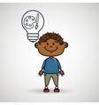 boy idea gears icon vector image
