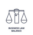 business law balance line icon concept business vector image vector image