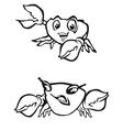 cartoon crabs vector image vector image