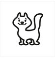 cat cartoon icon in simple monochrome style vector image vector image