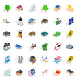 city park icons set isometric style vector image vector image