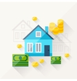 concept of mortgage in flat design style vector image