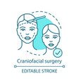 craniofacial surgery concept icon vector image vector image