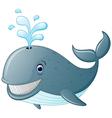cute cartoon whale vector image