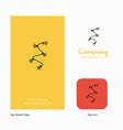 decoration light company logo app icon and splash vector image vector image
