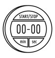 digital stopwatch icon outline style vector image vector image