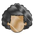 drawing head man faceless people avatar vector image