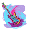 electric guitar background vector image vector image