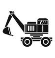 Excavator icon simple style vector image