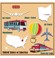 Flat map of Ohio vector image vector image