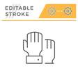 hand voting editable stroke line icon vector image