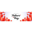 happy mothers day background with paper hearts vector image vector image