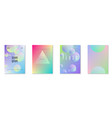holographic fluid set with radial circles vector image