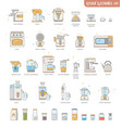 icon collection kitchen electronics appliances vector image