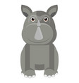 isolated cute rhino vector image vector image