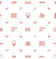 journey icons pattern seamless white background vector image vector image