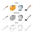 kitchen and cook symbol vector image vector image