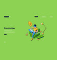 landing page freelancer remote employee vector image vector image