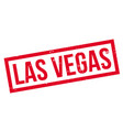 las vegas rubber stamp vector image