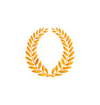 laurel wreath reward gold modern symbol of vector image vector image