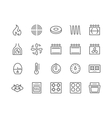 line stove icons vector image vector image