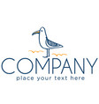 logo with seagull vector image