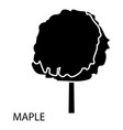maple icon simple style vector image vector image