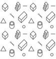 memphis design pattern vector image vector image