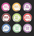 modern sale sticker and tag colorful collection 4 vector image vector image