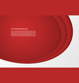 modern simple oval red and white background vector image vector image