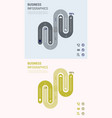 modern strips infographics different options vector image vector image
