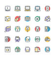 Multimedia Cool Icons 3 vector image vector image