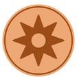 new star sticker bronze coin vector image vector image