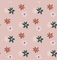 pastel pale seamless pattern with flower figures vector image vector image