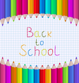 Rainbow of Pencils on Paper Sheet vector image vector image