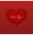 Realistic Valentines Day Heart on red Background vector image vector image