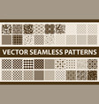 retro styled seamless pattern pack abstract vector image vector image