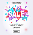 sale banner template for online shopping design vector image vector image